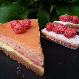cheesecake rémois citron-pralines roses