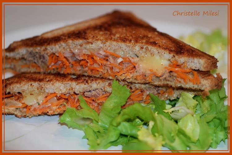 Croque carottes-thon-cantal