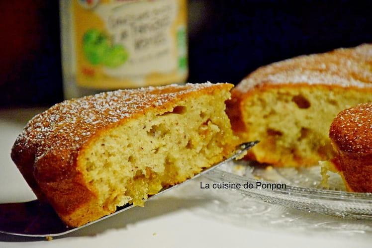 Gâteau moelleux à la confiture de tomates vertes et blancs d'oeufs