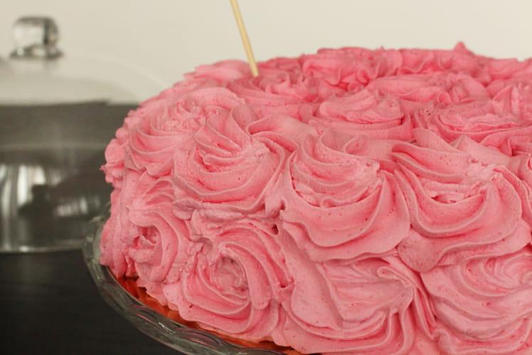 Gâteau damier vanille et chocolat façon rose cake