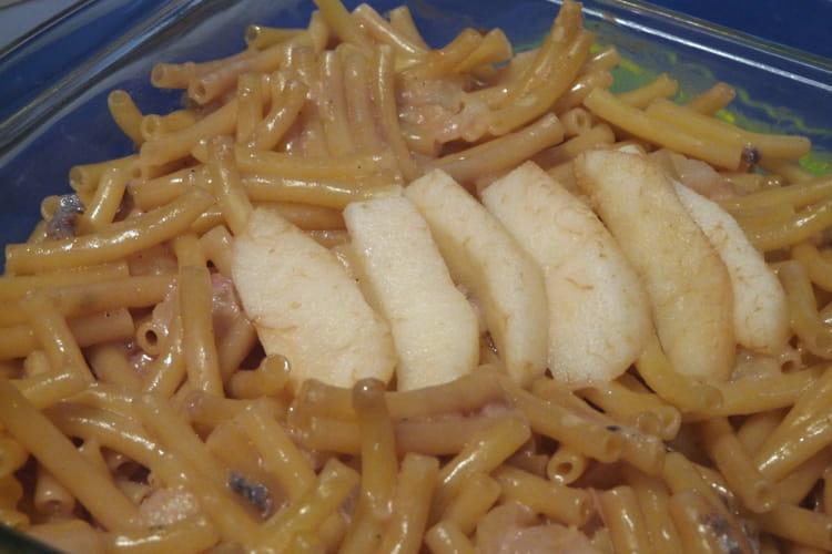 Gratin de macaronis aux poires et au gorgonzola