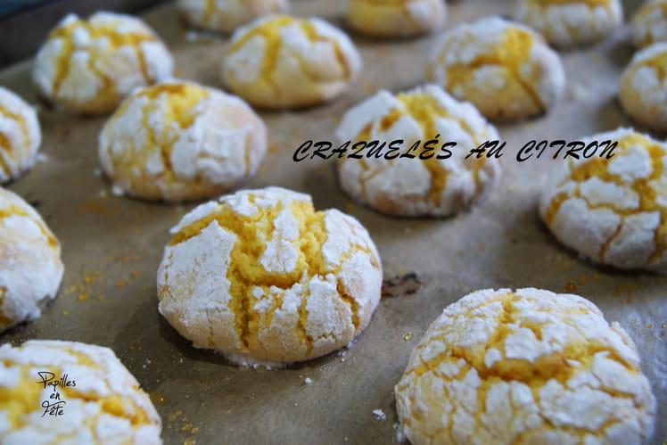 Biscuits craquelés au citron ou lemon crinkles