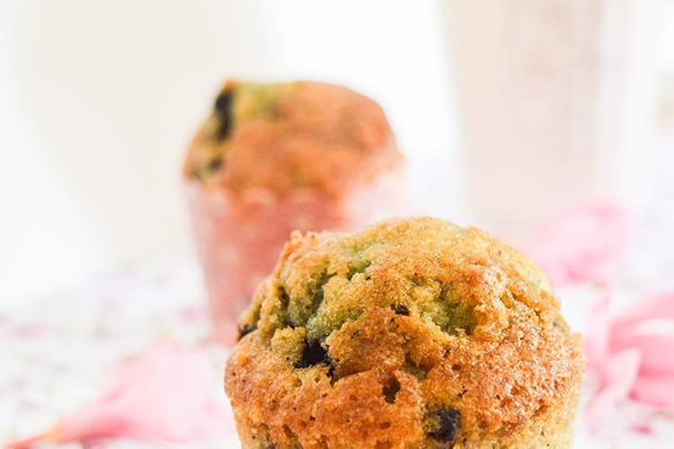Muffins ultra moelleux aux myrtilles
