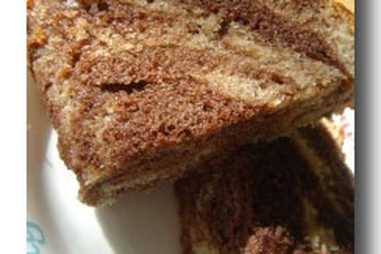 Cake marbré citron-chocolat
