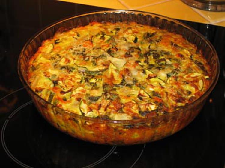 Recette de tarte aux courgettes sans p te la recette facile - Recette facile a faire sans four ...