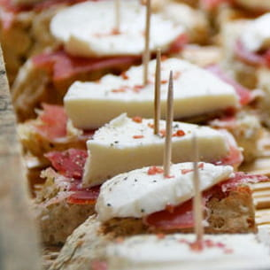 mini tartines jambon mozzarella