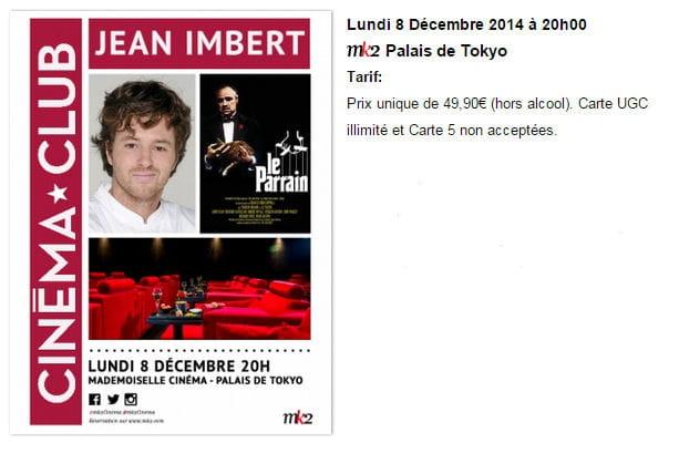 Jean Imbert fait son cinéma
