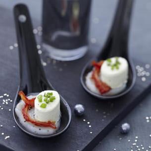 carpaccio de saint-jacques à la tomate séchée et apérivrais® au pesto