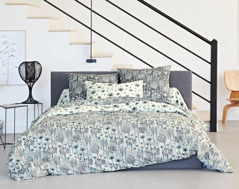 Esprit nature sur ce linge de lit