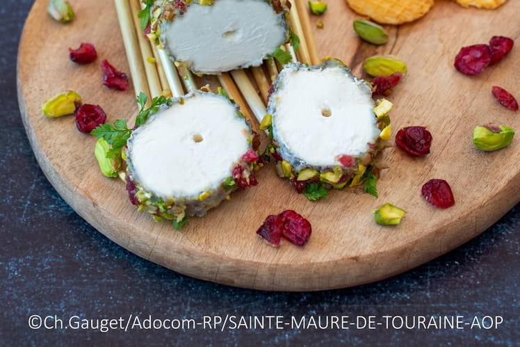 Sainte-Maure-de-Touraine AOP pané aux fruits secs