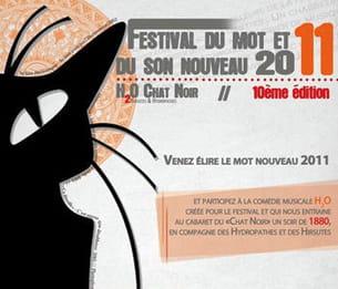 extrait de l'affiche du festival du mot et du son nouveau 2011