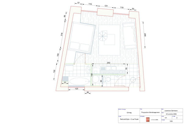 Studio relooké : plan général d'aménagement
