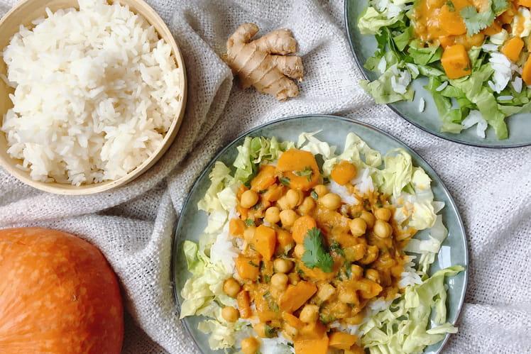Curry de pois chiches aux légumes vegan et sans gluten