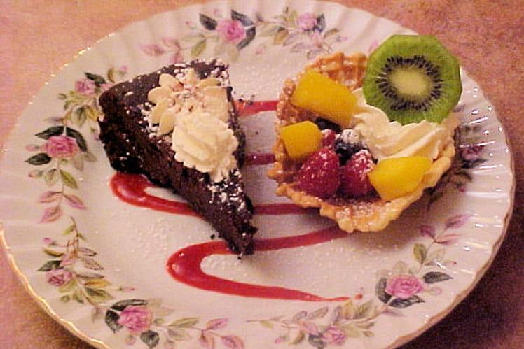 Gâteau truffe au chocolat