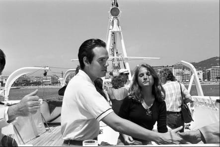 Frédéric Mitterand et Isabelle Huppert, sur l'eau