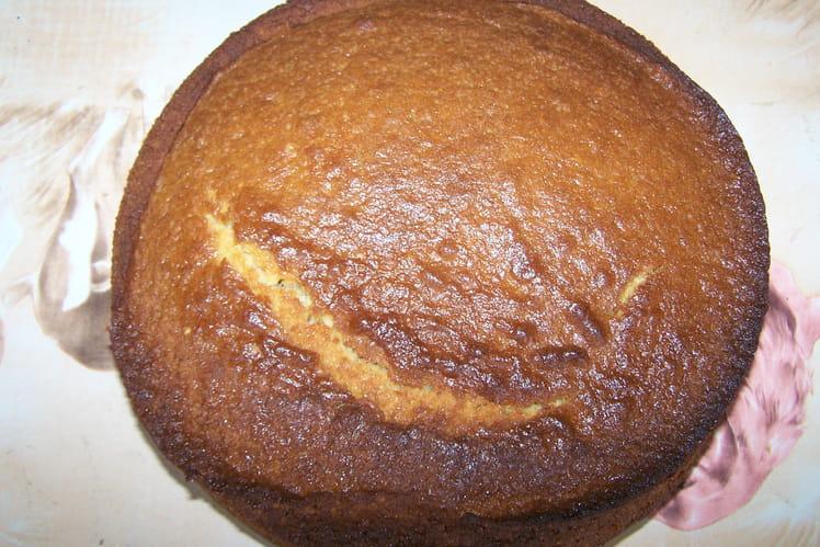 Gâteau au yaourt, cognac et noix de coco