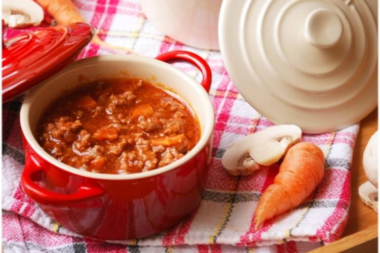 Sauce bolognaise à la carotte