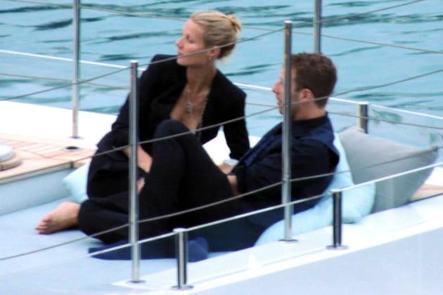 Gwyneth Paltrow et Chris Martin sur un yacht