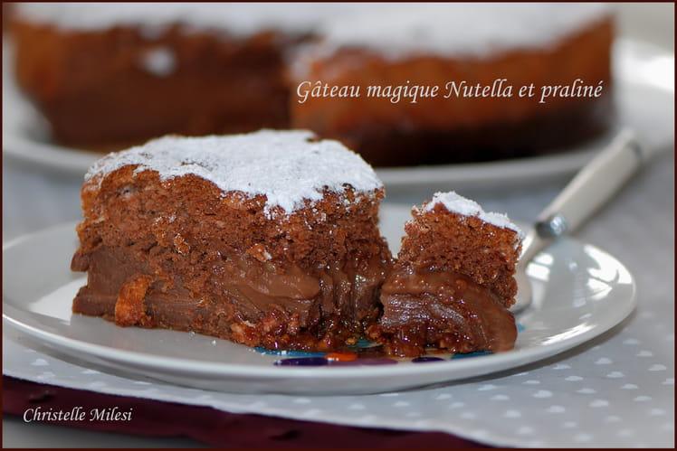 Gâteau magique Nutella et praliné