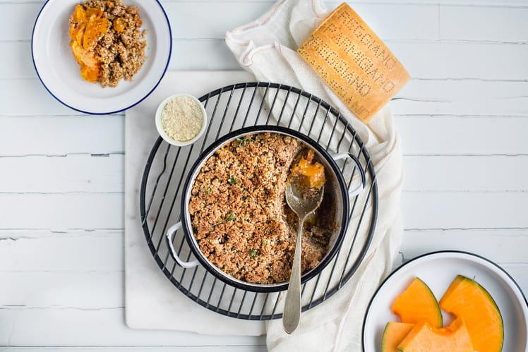 Crumble noisettes, courge et Parmigiano Reggiano
