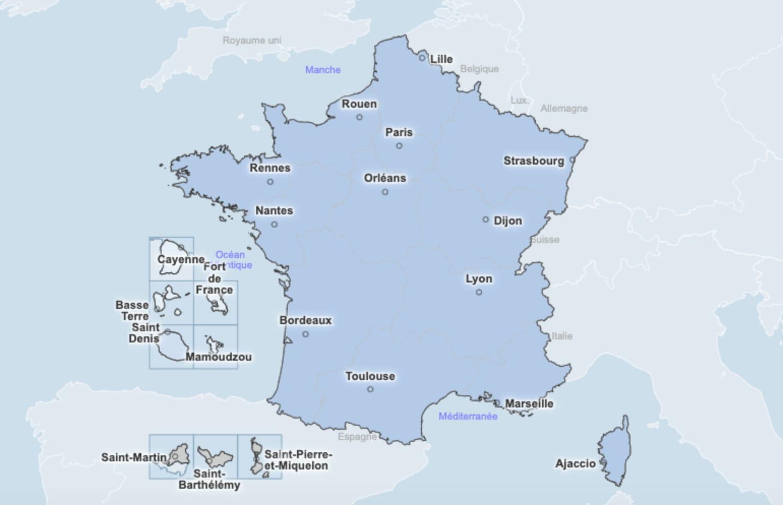 CARTE COVID: vaccination, département, France, Europe, Monde