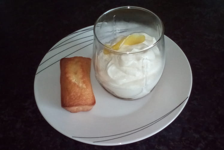Verrine de mousse au citron