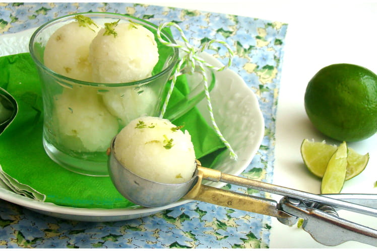 Sorbet au citron vert, recette de Christophe Felder