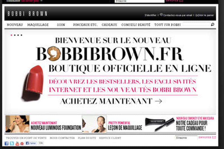 Bobbi Brown lance sa e-boutique en France