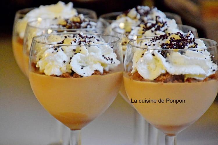 Crème à la confiture de lait à la fleur de sel de Guérande, sans oeufs et sans farine