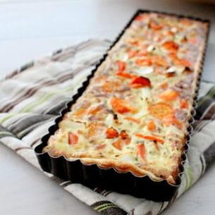 tarte aux carottes, lait de coco et coriande