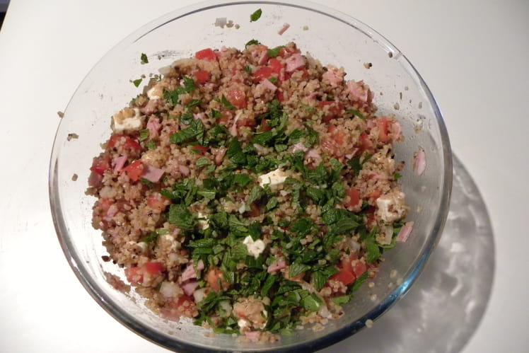Salade de blé et de sarrasin