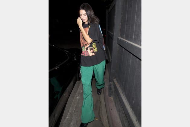 Kendall Jenner en tenue sportswear