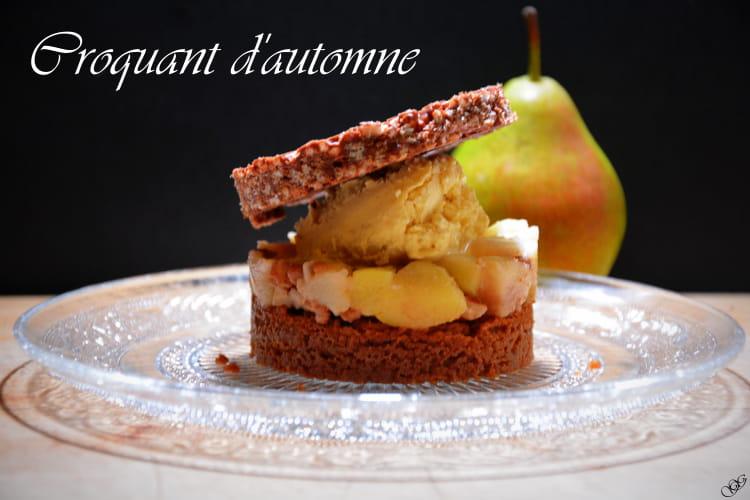 dessert croquant d 39 automne la poire sp culoos et chocolat. Black Bedroom Furniture Sets. Home Design Ideas