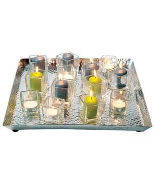 le plateau 'alu' pour bougies de casa