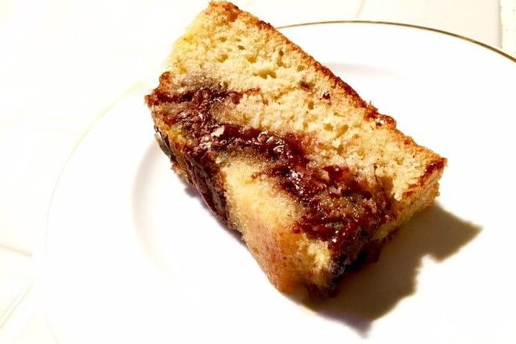 Moelleux marbré au Nutella