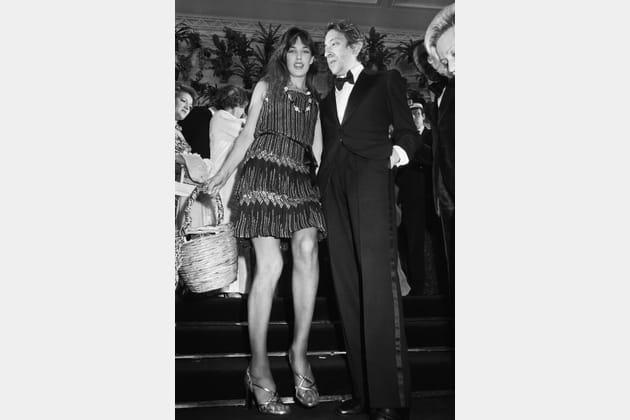 Avec Jane Birkin lors du Festival de Cannes en 1974