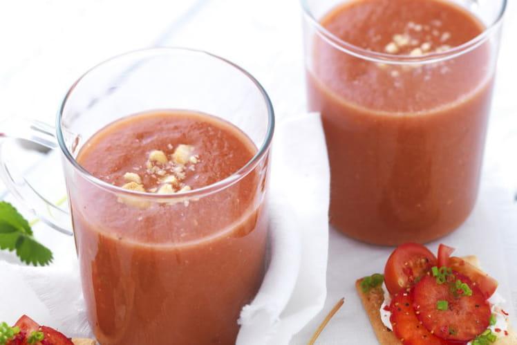 Jus de tomates et fraises