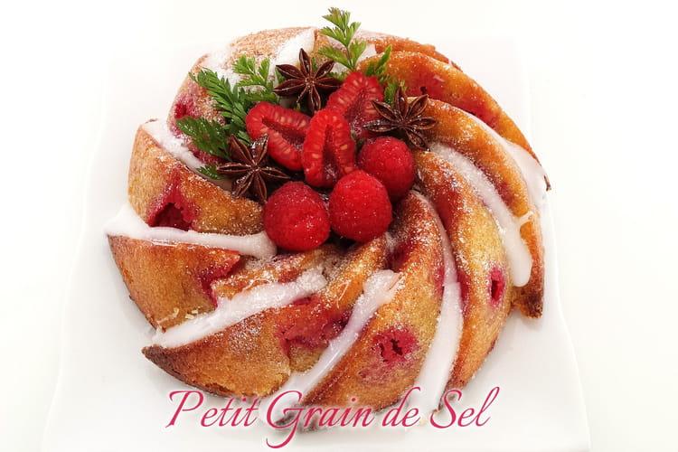 Gâteau de polenta aux framboises