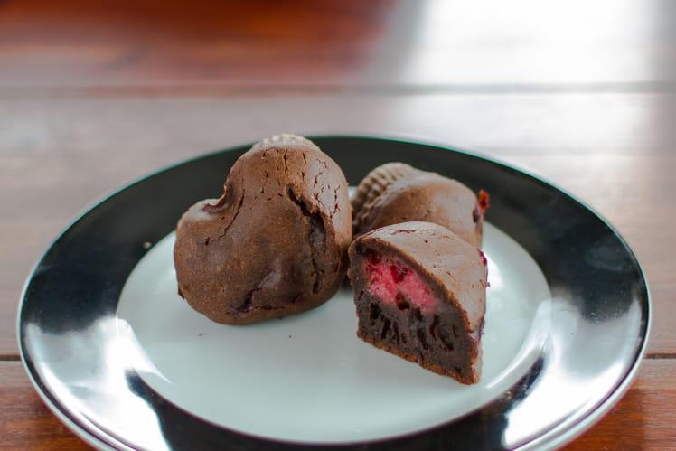 Moelleux au chocolat corsé coeur de framboise
