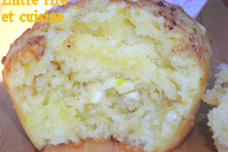 Muffins au citron et chocolat blanc