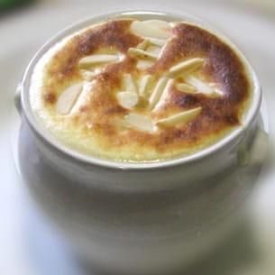 soupe gratinée de framboises à la fleur d'oranger