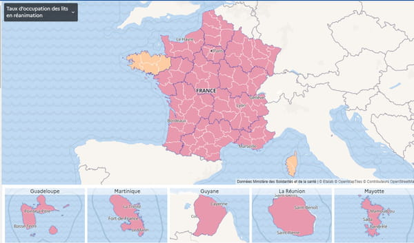 carte-covid-france-lit-reanimation-taux