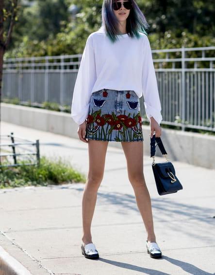 La jupe brodée
