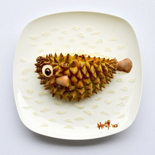 Poisson ballon en fruits