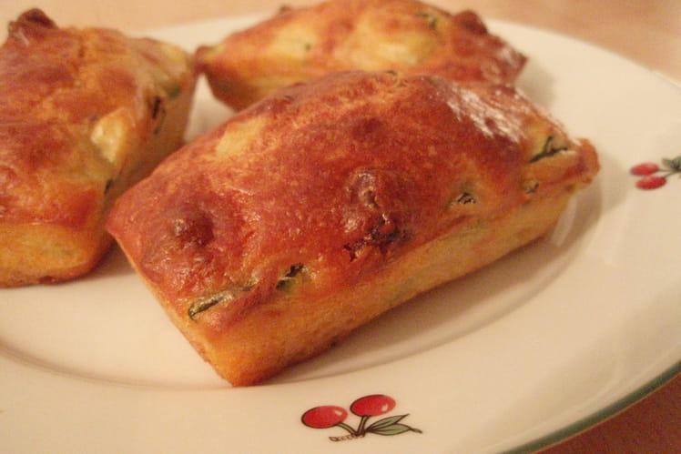Petits cakes tout moelleux courgettes et chorizo