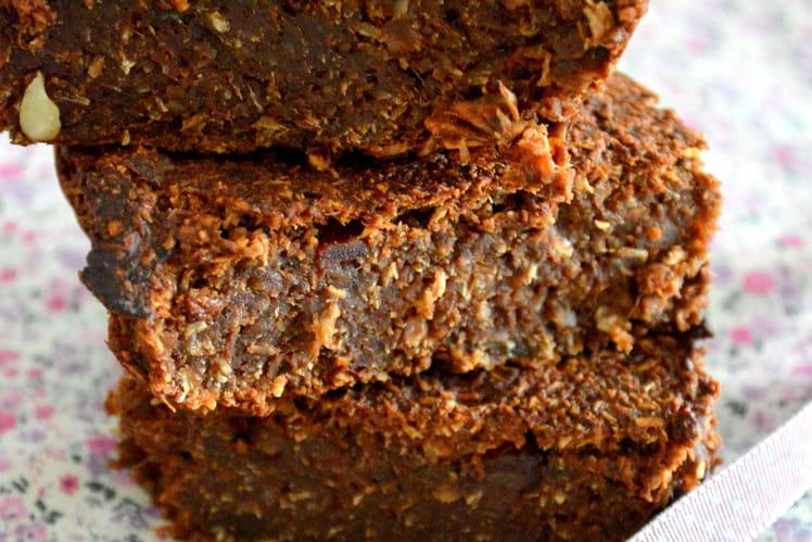 Brownie courge, noix et amandes