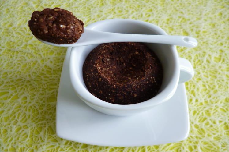Mugcake allégé pomme poire chocolat au son d'avoine et au psyllium