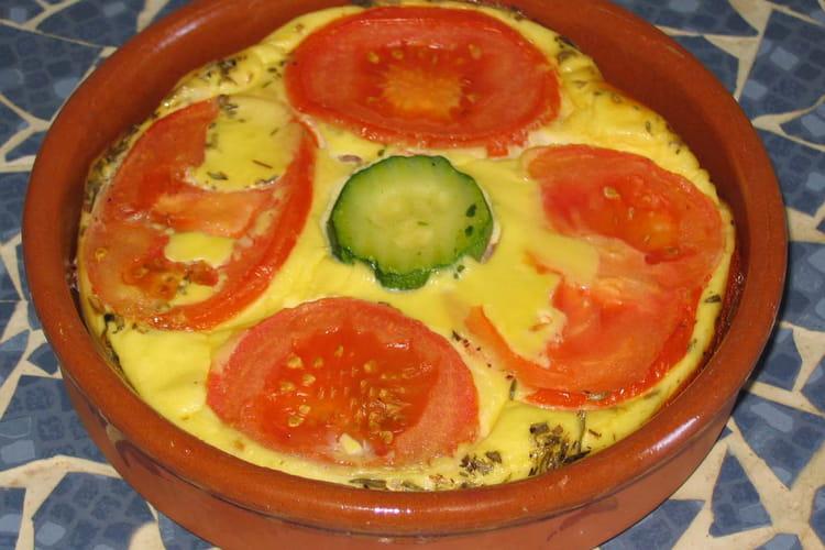 Flan à la tomate et aux courgettes