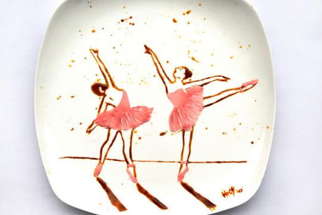 Ballerines en chocolat