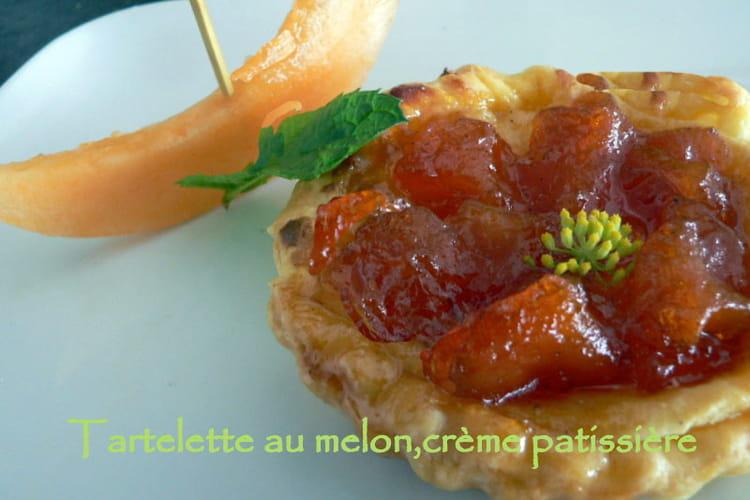 Tartelettes au melon, crème patissière